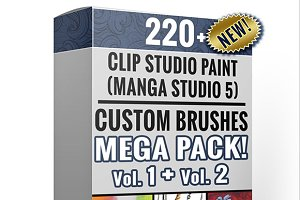 Clip Studio Paint Mega Pack Vol1 & 2