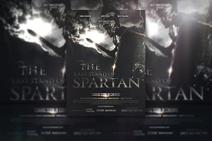 Spartan movie flyer template