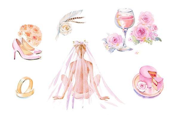 wedding watercolor clipart set illustrations creative market