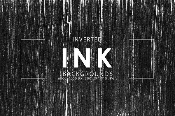 Inverted Black Ink Backgrounds