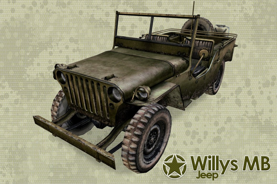Jeep mb jeep : Willys Jeep ~ Vehicles ~ Creative Market