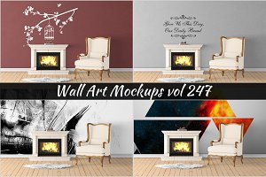 Wall Mockup - Sticker Mockup Vol 247
