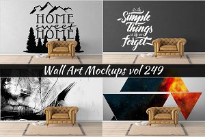 Wall Mockup - Sticker Mockup Vol 249