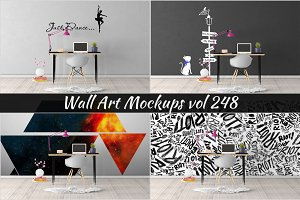 Wall Mockup - Sticker Mockup Vol 248