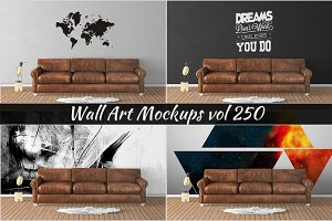 Wall Mockup - Sticker Mockup Vol 250