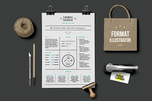 Burger - Resume template Illustrator