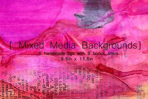 Mixed Media Backgrounds + Bonus!