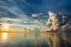Beautiful sunrise at Borneo