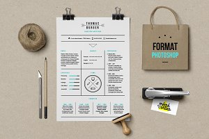 Burger - Resume template Photoshop