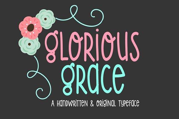 Glorious Grace-Handwritten Font in Display Fonts