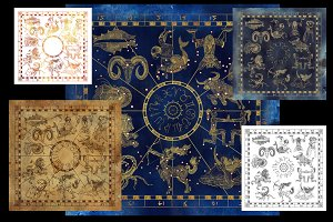 Zodiac collages