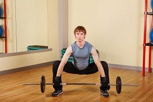 Man lifting a weight