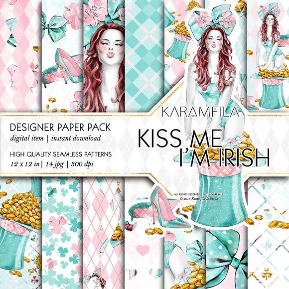 st patrick s paterns irish fashion graphic patterns creative market