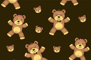teddy bear seamless