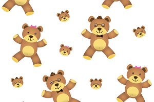 teddy bear seamless isolated