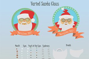 Varied Santa Claus- 56 elements