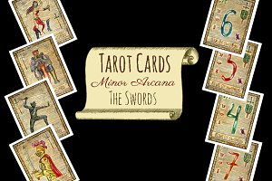 Minor Tarot Cards. The Swords