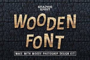 Wooden Font Promo Extended License