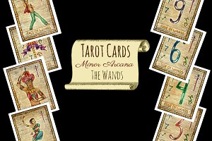 Minor Tarot Cards. The Wands