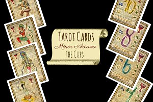 Minor Tarot Cards. The Cups