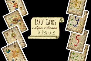 Minor Tarot Cards. The Pentacles