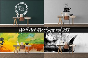 Wall Mockup - Sticker Mockup Vol 251