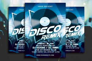 Disco Remix Party Flyer