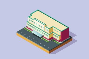 Isometric Illustration Building-03