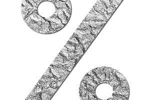 Font aluminum foil