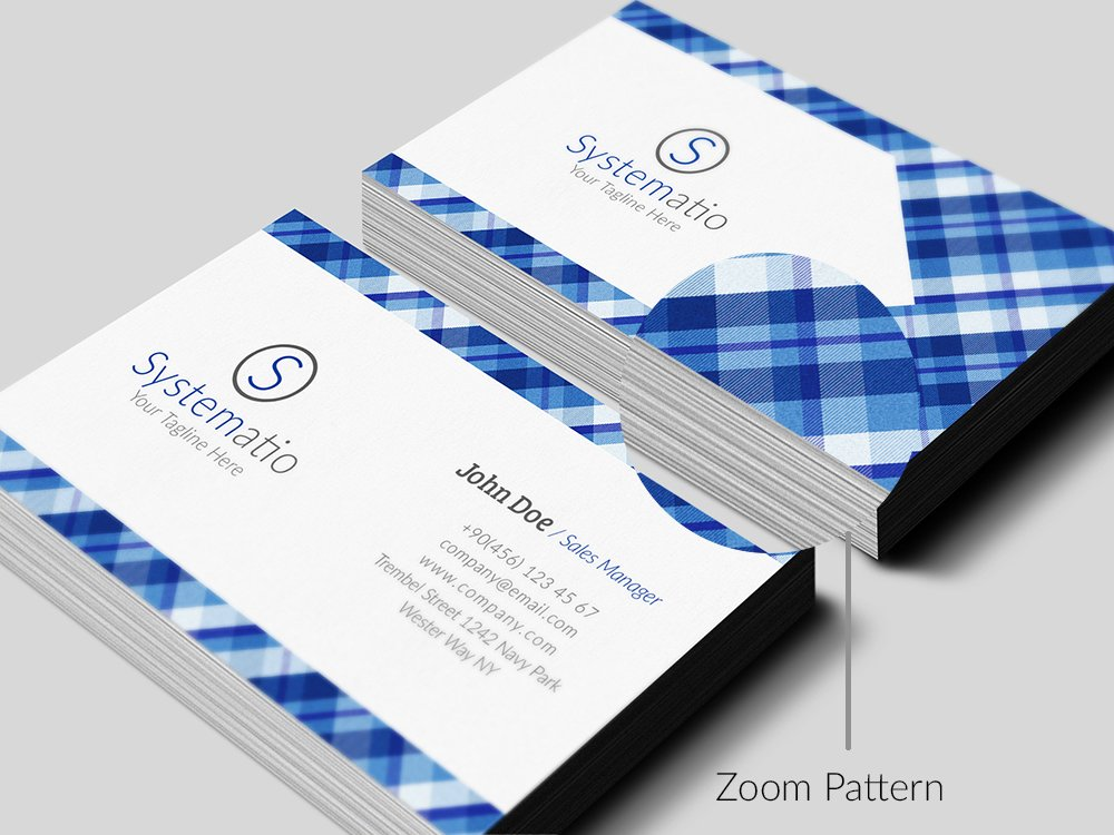 Simple Pattern Business Card ~ Business Card Templates ~ Creative ...