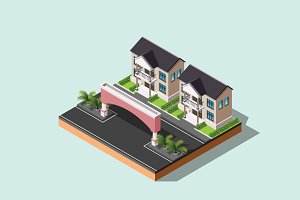 Isometric Illustration House-01