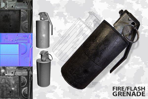 3D Weapons: Beatheart Creative Studio - Grenade m14 m18    Flash/Fire/Smoke