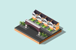 Isometric Illustration House-02