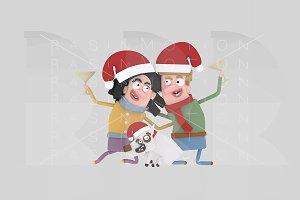 3d illustration. Couple Toasting.