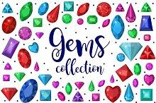 Gems collection + Bonus gems line