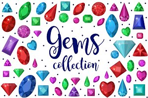 Gems collection + Bonus gems line