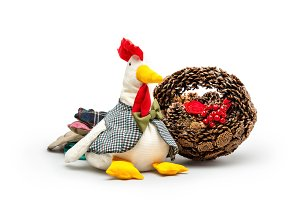 Рine cones and handmade cock