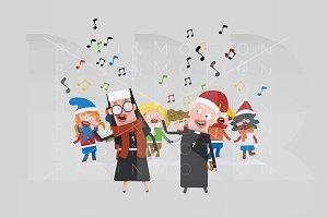 3d illustration. Xmas songs.