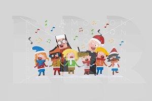 3d illustration. Kids Xmas Songs