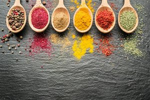 Assortment of colorful spices