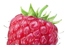 Ripe raspberry.