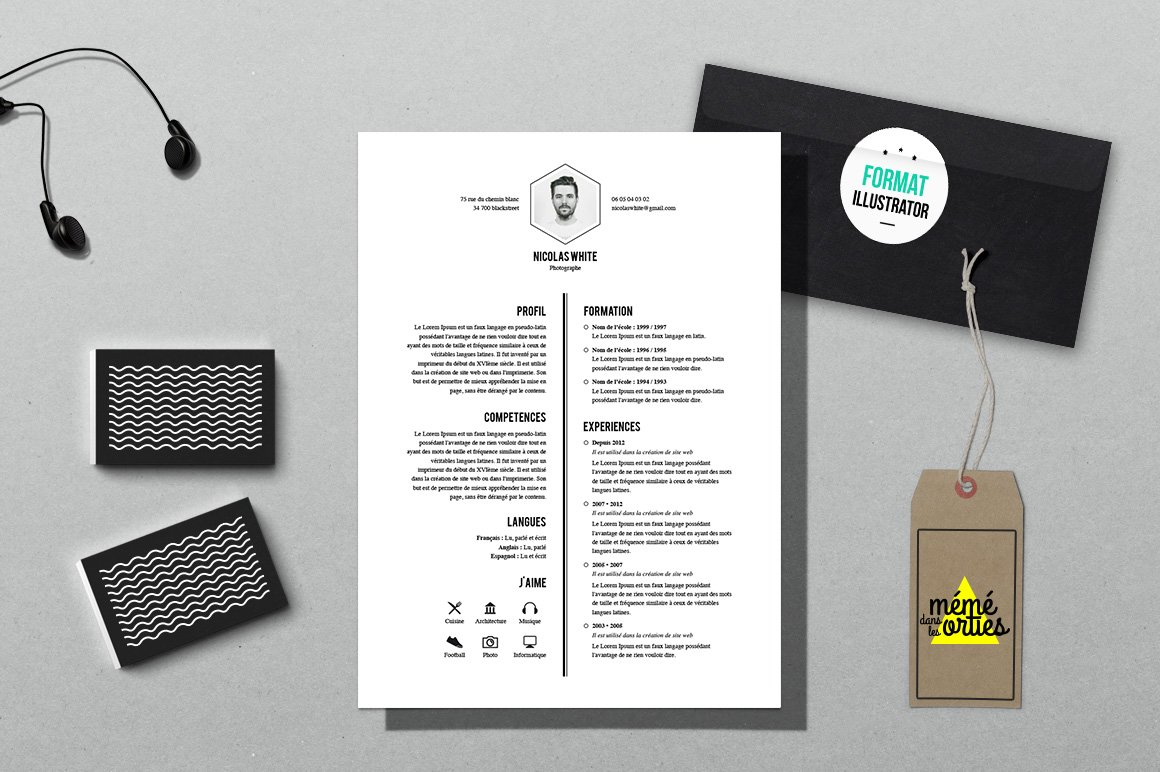 white resume template illustrator resume templates creative