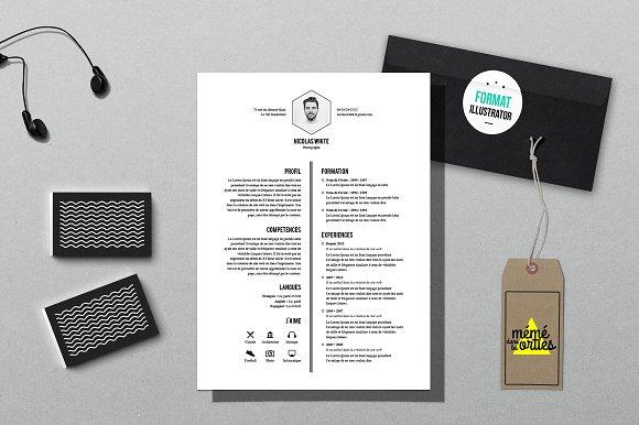 white resume template illustrator resume templates