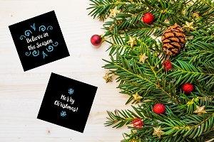25 Christmas blue elements