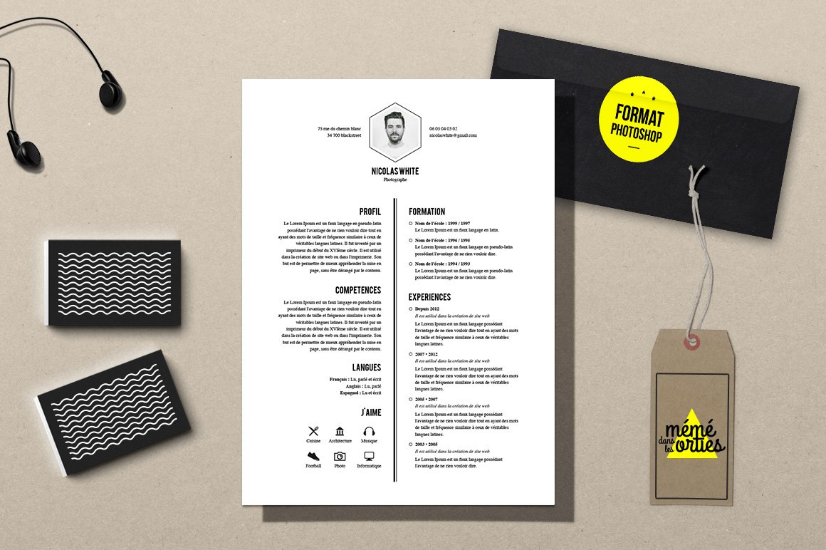 White resume template photoshop resume templates creative market yelopaper