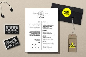White - Resume template Photoshop