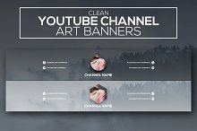 Clean Youtube Channel Art Banners by  in YouTube