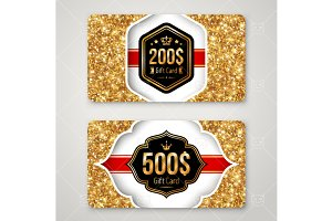 Gift Cards with gold dust