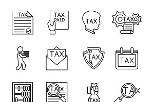Line tax icons