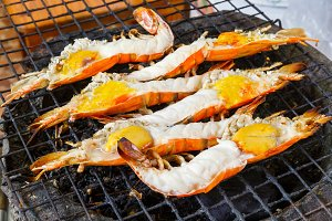 River prawn grilled